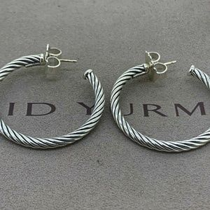 David Yurman Cablespira Hoop Earrings NWOT